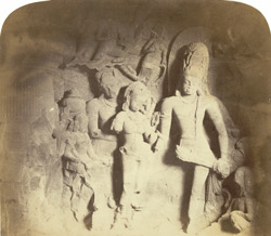 The marriage of Shiva & Parvati, Caves of Elephanta